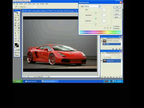 tutorial change color of a car photoshop CS2