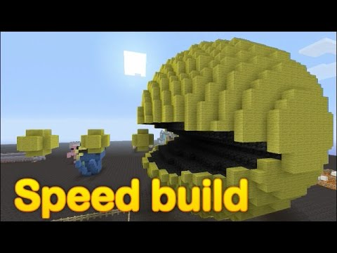 Minecraft - Speed build - Giant PacMan!