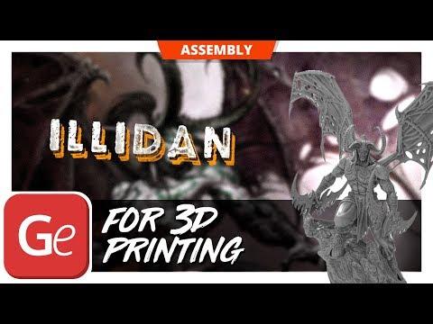 Warcraft Illidan 3D Model | Assembly by Gambody