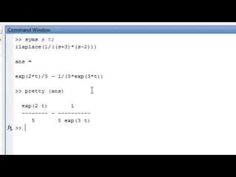How to find laplace & inverse laplace by matlab