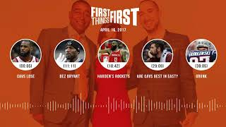 First Things First audio podcast(4.16.18) Cris Carter, Nick Wright, Jenna Wolfe | FIRST THINGS FIRST