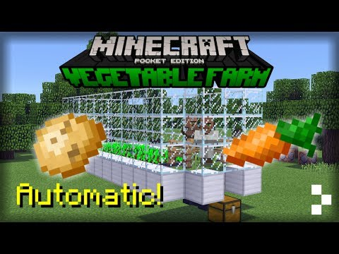 Automatic Vegetable Farm in MCPE!