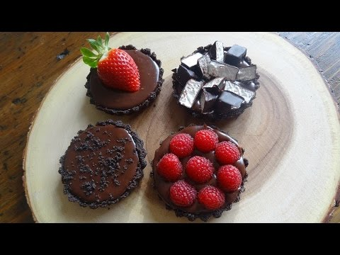 Chocolate Tart with Easy Decorations..... How to
