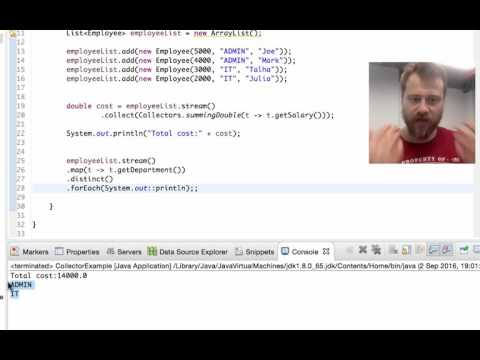 Converting stream to a collection with Collectors.toList()