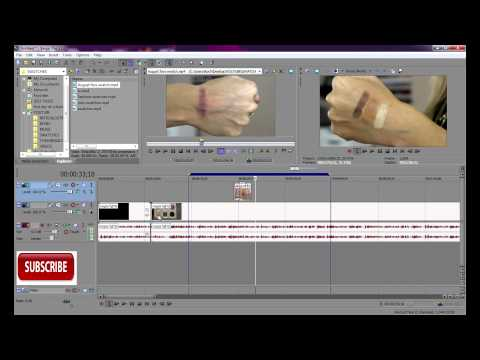 How to Split,Fade,Merge & Separate audio/video in Sony Vegas Pro 11