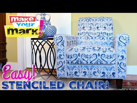 How to: No Sew Upholstered Chair Makeover