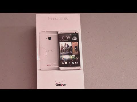 Verizon HTC One M7 Unboxing! (Silver, 32 GB)