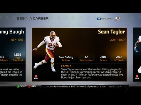 Madden 25 Connected Franchise - List of All Player Legends