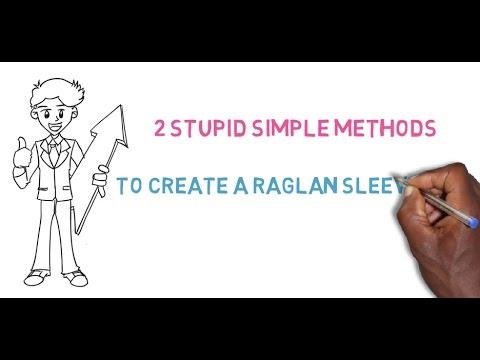 Raglan Sleeve Tutorial: 2 Stupid Easy Methods to Create a Raglan Sleeve Pattern