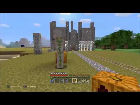 Minecraft-How to make an Iron Golem UPDATED (bodyguard trophy/achievement)