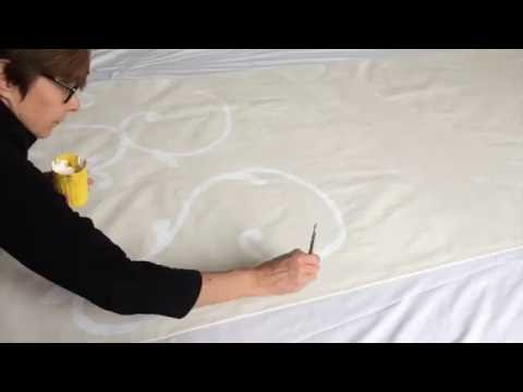 How To: Floorcloth Painting with Acrylic Paint