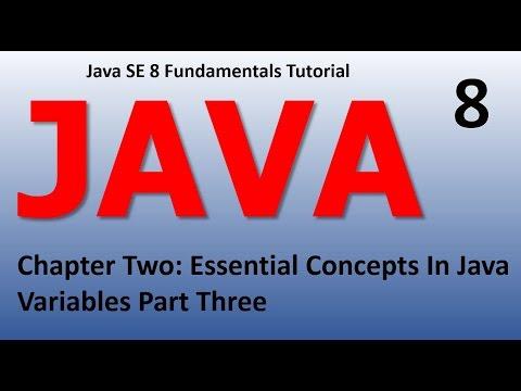 Java Introduction - Essential Concepts Variables Epi 8