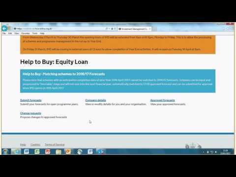 Help to Buy – Inputting and submitting your annual forecasts