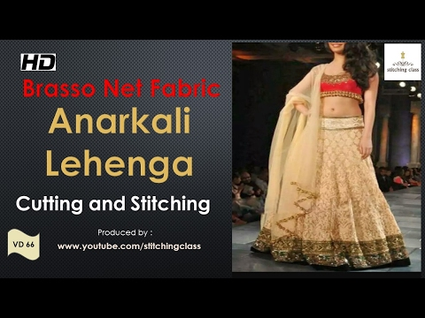 Anarkali Lehenga Cutting and Stitching