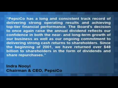 PepsiCo Increased Its Annual Dividend To $2.06 Per Share