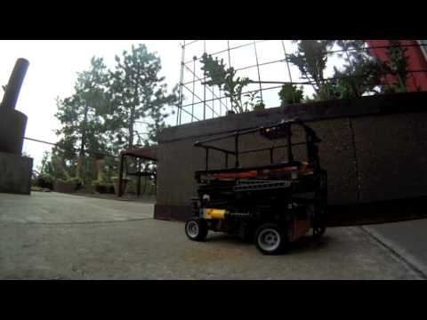 lego technic scissor lift with atomatic 2 speed gear box