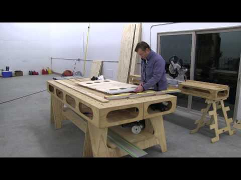 Building the Paulk Workbench: PART 2 MAKING SAW HORSE PATTERN