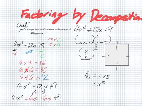 Factoring by decomposition (Grade 11 University)