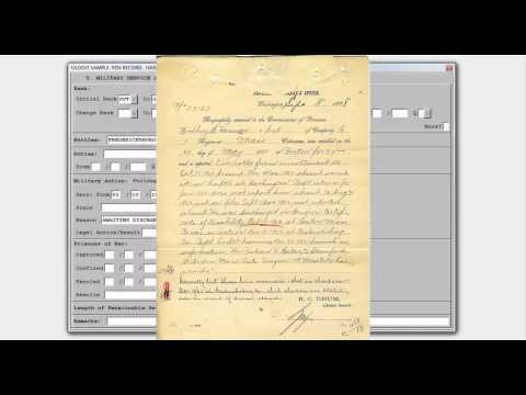Union Army Data Demo - Pension Part 1 Military Service
