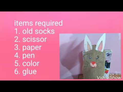 How to make puppet from socks.