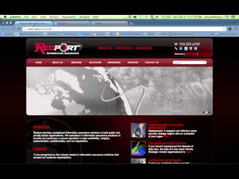 Redport Information Assurance: Twitter and YouTube