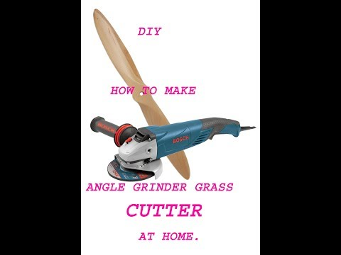How to make a brush cutter from an angle grinder. easy diy.