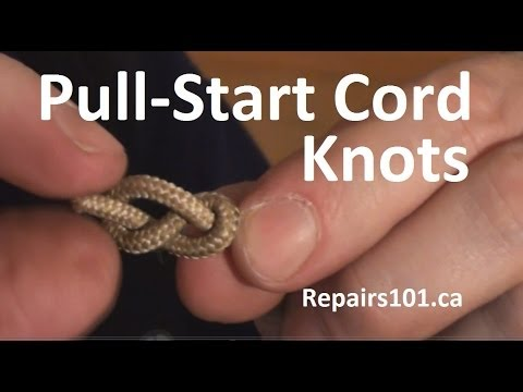 Pull-Start Cord Knots - effective stopper knots