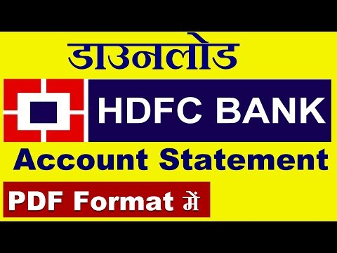 How to Download HDFC Bank Statement in PDF Format