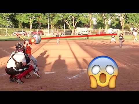 BASEBALL PITCH to the HEAD at Little League Baseball Game!