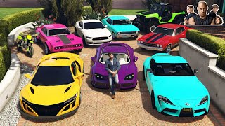 GTA 5 - Stealing FAST AND FURIOUS 9 All Cars with Michael! (Real Life Cars #95)