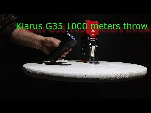Klarus G35 1,000 meters of Throw Flashlight