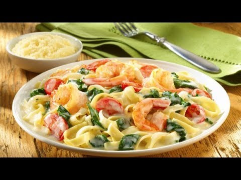 How to make Chicken Shrimp & Broccoli Alfredo Pasta
