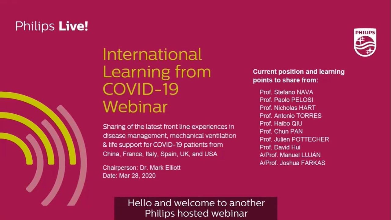 COVID-19 Webinar 2: International Learning from COVID-19 – Part 1