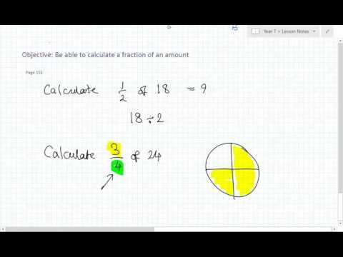 fraction of an amount