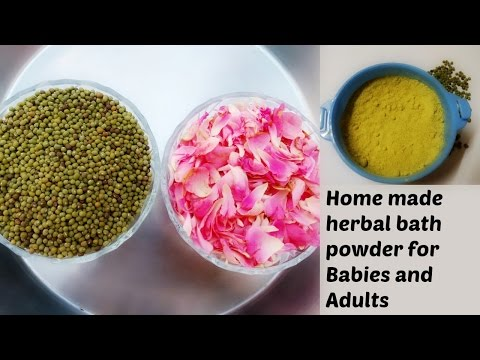 Homemade herbal bath powder for babies and adults with two ingredients | Bath powder for babies