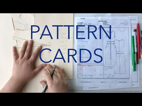 Filling Out Pattern Cards & Labeling Patterns