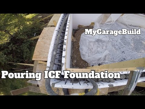 Pouring our ICF concrete foundation DIY House Addition Build