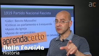 A Itália Fascista