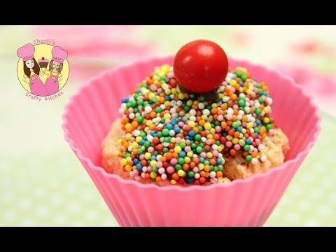 Make an easy CHEAT no bake rainbow sprinkle Cupcake - Kids birthday party treat!