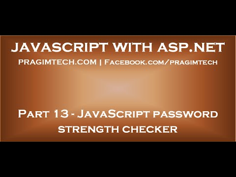 JavaScript password strength checker
