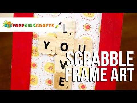 Scrabble Tile Frame Art