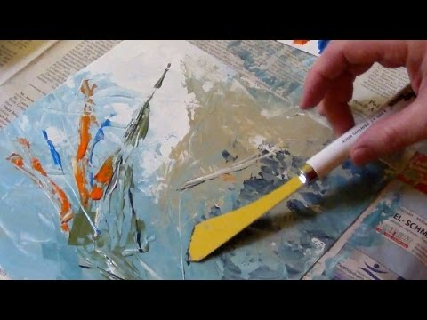Acrylic Painting with a Palette Knife (No-Brush-Painting)