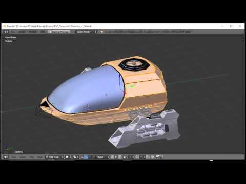 Blender For Noobs - Spaceship tutorial - Part 12 of 12