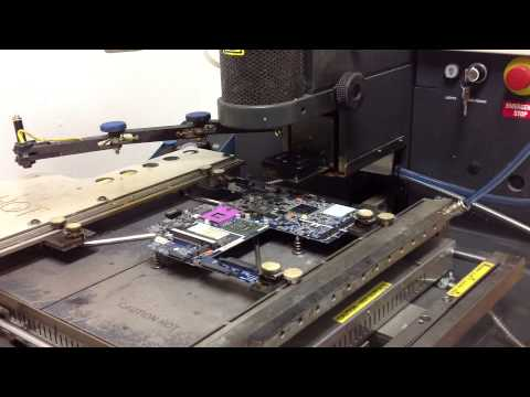 HP DV7 Replace and/or reflow BGA SMD video chip chipset on motherboard