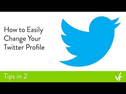 How to Easily Change Your Twitter Profile