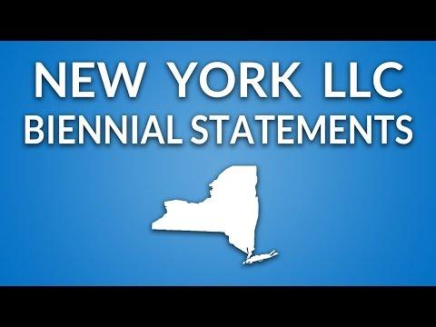 New York LLC - Annual Report (Biennial Statement)