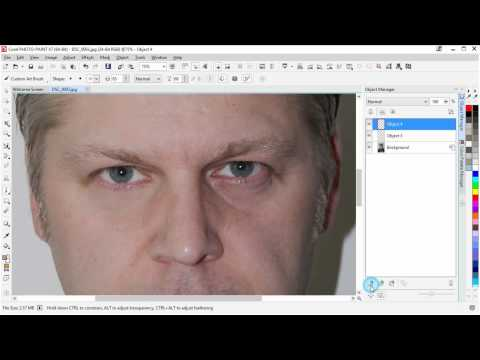 Corel Photo-Paint Remove loose bags under eyes, image retouching by Stefan Lindblad