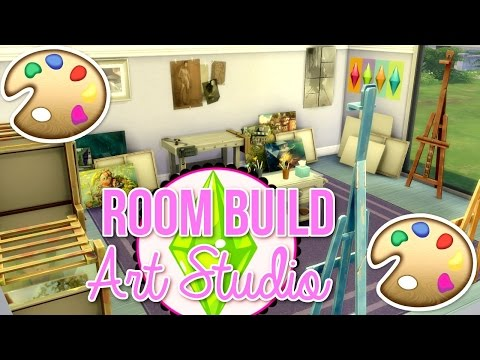 The Sims 4 | Room Build // Art Studio