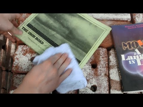 Mold Removal, Book Cleaning attempt 1: Hydrogen Peroxide, Washcloth