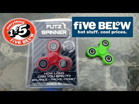 Five Below Fidget Spinner unboxing, review, and spin time.  FUTZ SPINNER $5 Fidget Spinner review.